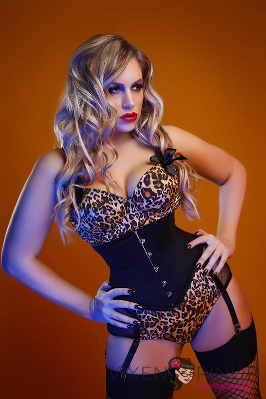 Orchard Corset Lingerie Model Pinup