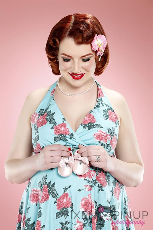 Maternity Pinup Dress Baby Photography