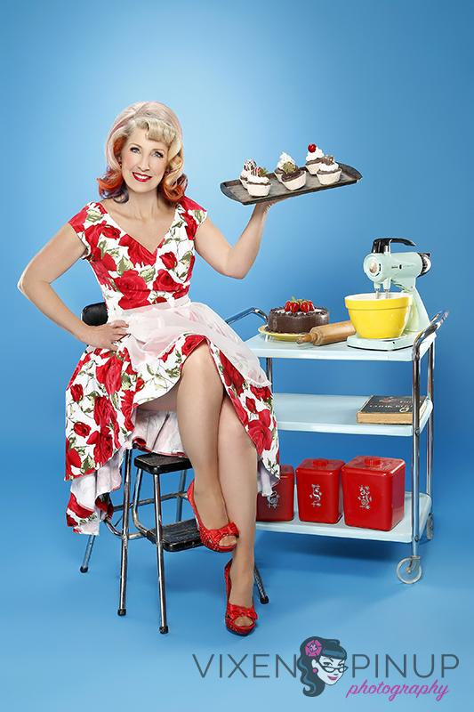 Pinup Girl Vintage Kitchen Housewife