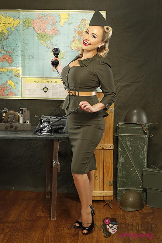 Vintage Military Pinup WWII Vixen